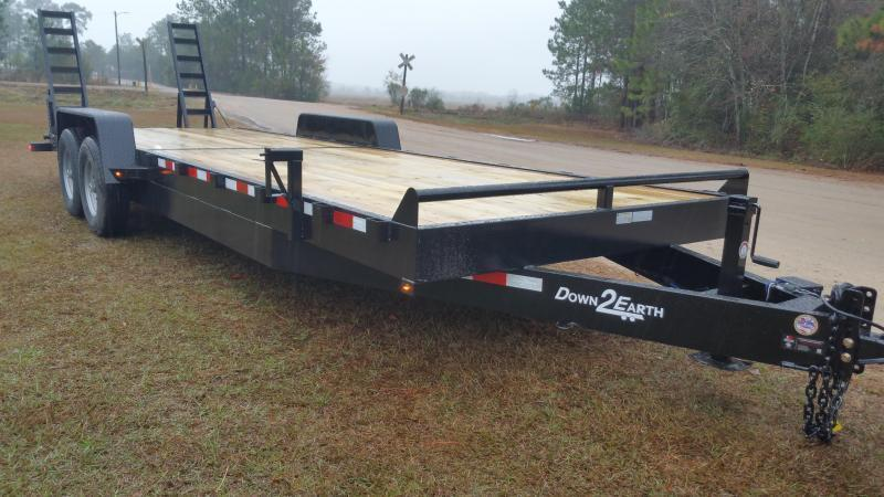 2019 (18 FOOT)(5' SIDE GATE WITH UPGRADED HEAVY DUTY TUBING RAILS) (7000GVWR) Down 2 Earth Trailers DTE8218UT3.5B Utility Trailer