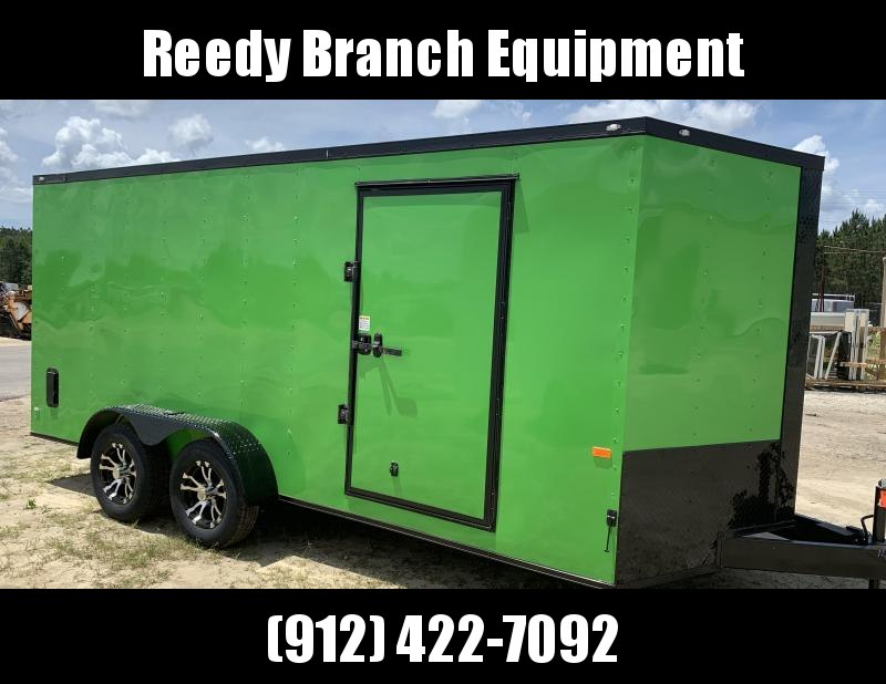 New 7x16 Electric Green Blackout Trailer $4350