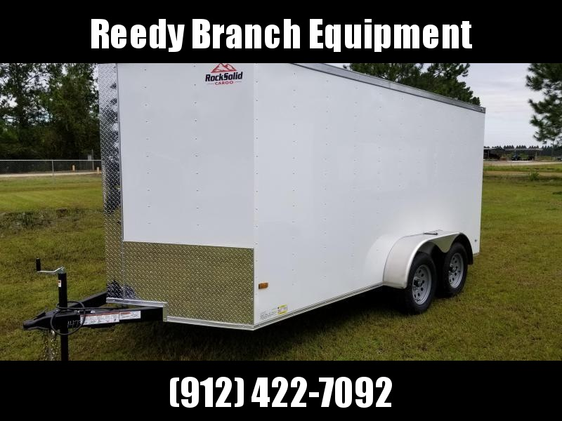 2019 ROCK SOLID CARGO (WHITEBLACK)FACTORY DIRECT PICKUP 7x14TA Enclosed Cargo Trailer