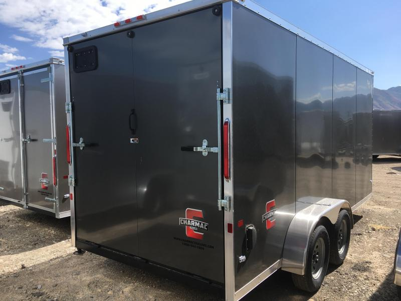 7x16 Charcoal Charmac Stealth Cargo Trailer