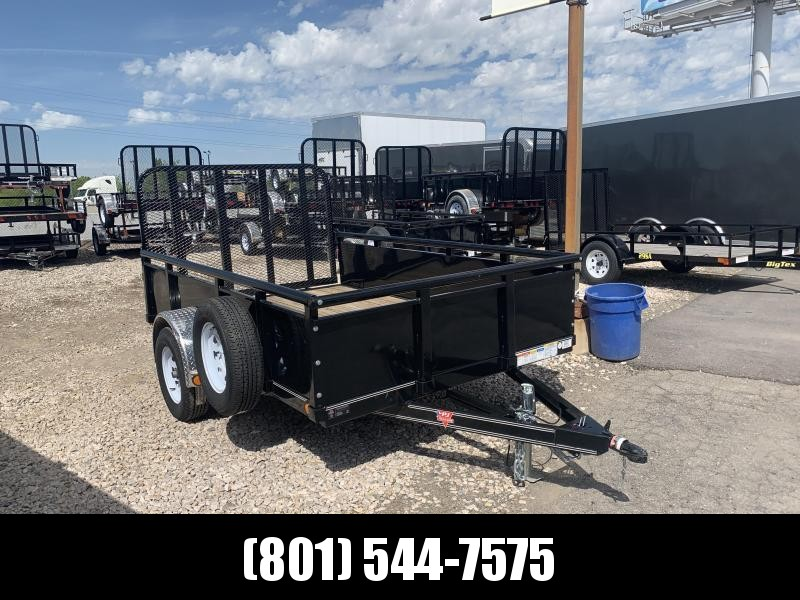 PJ 77x10 Channel Utility (U7) Utility Trailer with Solid Sides