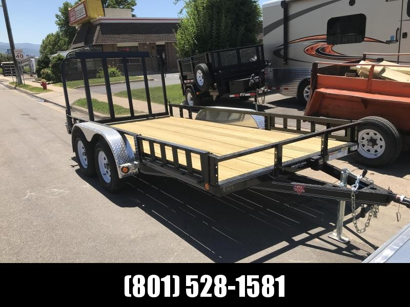 PJ Trailers 83x12 Single Axle Utility Trailer