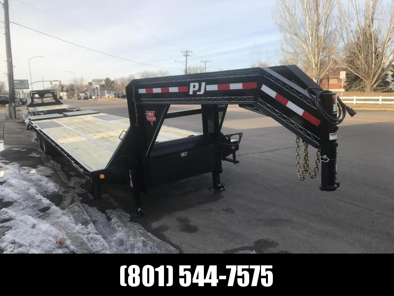 2019 PJ Trailers 32ft - Gooseneck Low-Pro Flatdeck with Duals (LD) Flatbed Trailer