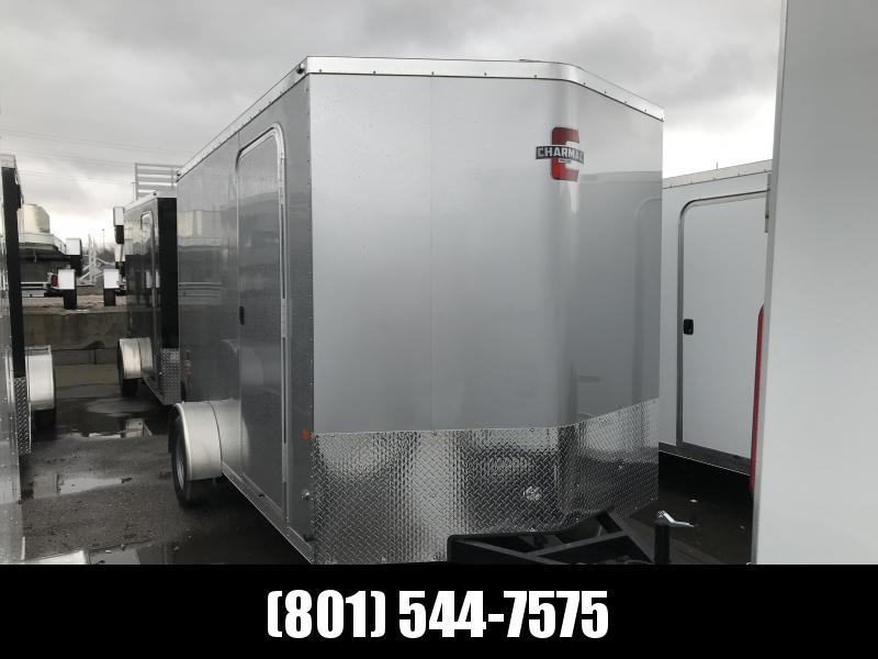 Charmac 7x12 Silver Stealth Cargo with Ramp