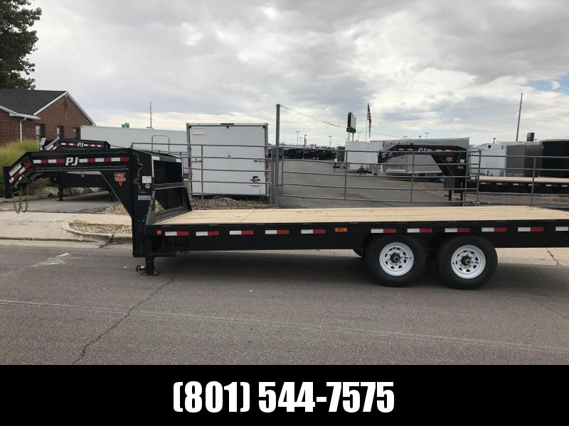 2019 PJ Trailers 24ft - Gooseneck Classic Flatdeck with Singles (FS) Flatbed Trailer