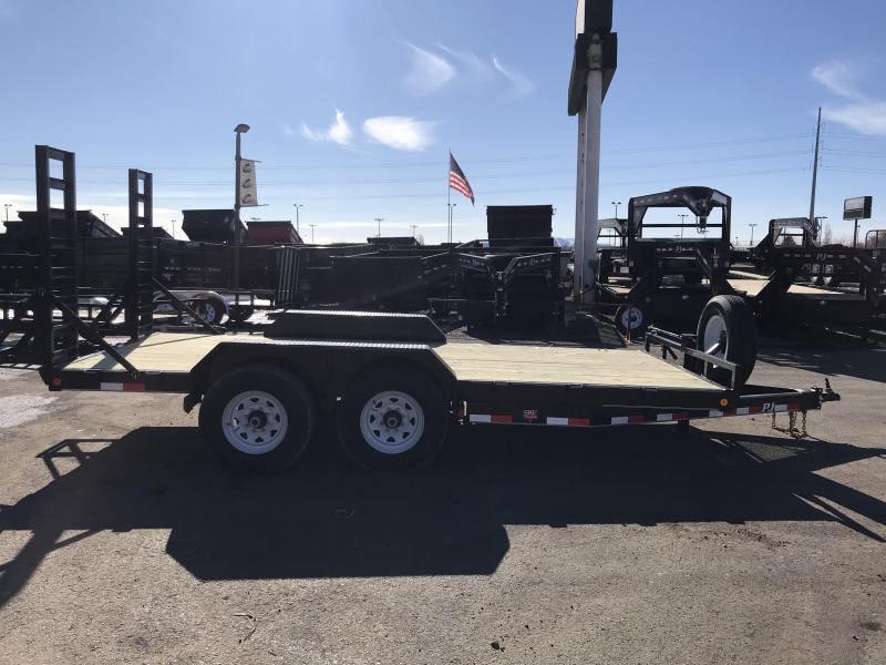 2018 PJ Trailers 16 Channel Super Wide Equipment Trailer