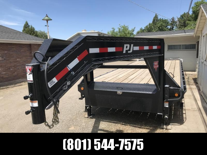 2019 PJ Trailers 28ft - Gooseneck Classic Flatdeck with Singles (FS) Flatbed Trailer in UT