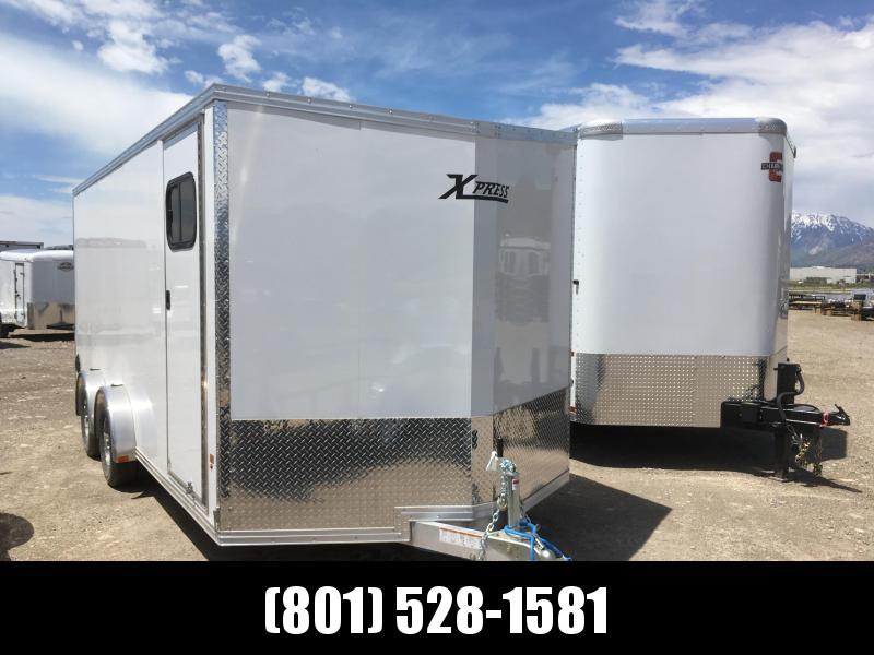 7.5x18 White High Country Xpress Cargo Trailer with Special UTV Package