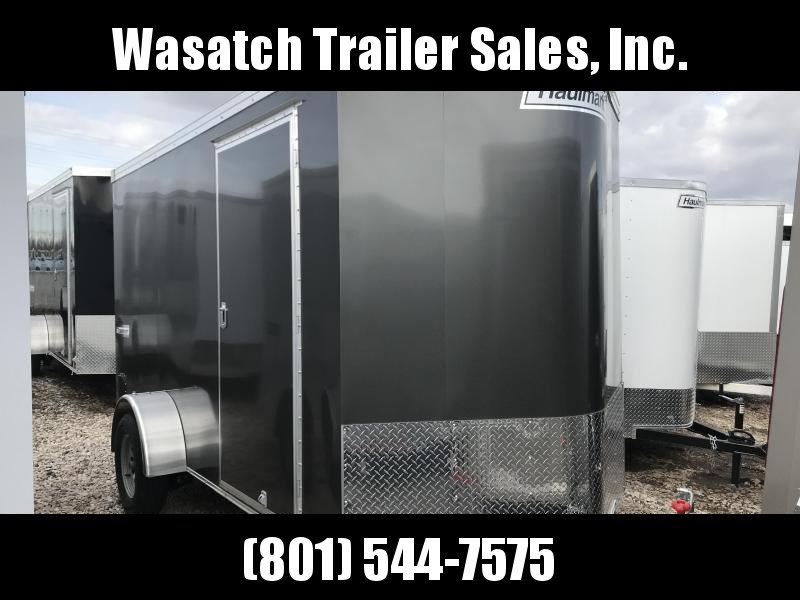2019 Haulmark Charcoal 6x10 Transport w Ramp Enclosed Cargo Trailer