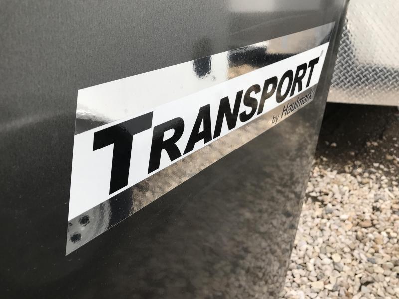 2019 Haulmark Charcoal 6x10 Transport w Ramp Enclosed Cargo Trailer