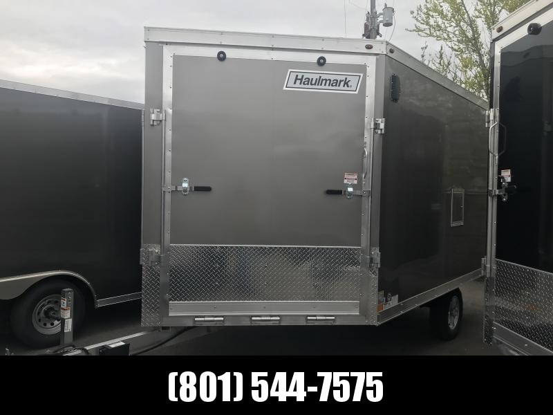 Haulmark 12ft Pewter Aluminum Double Door Snowmobile Trailer
