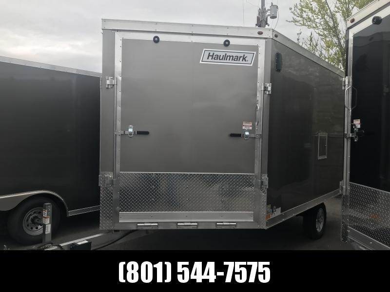 Haulmark 12ft Pewter Aluminum Double Door Snowmobile Trailer
