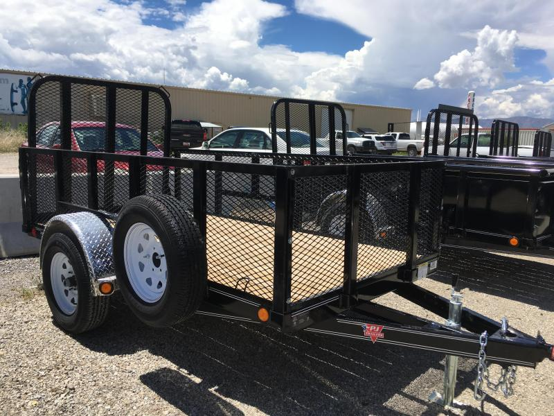 2019 PJ Trailers 5x10 U6 Utility Trailer with 2' Expanded Metal Sides