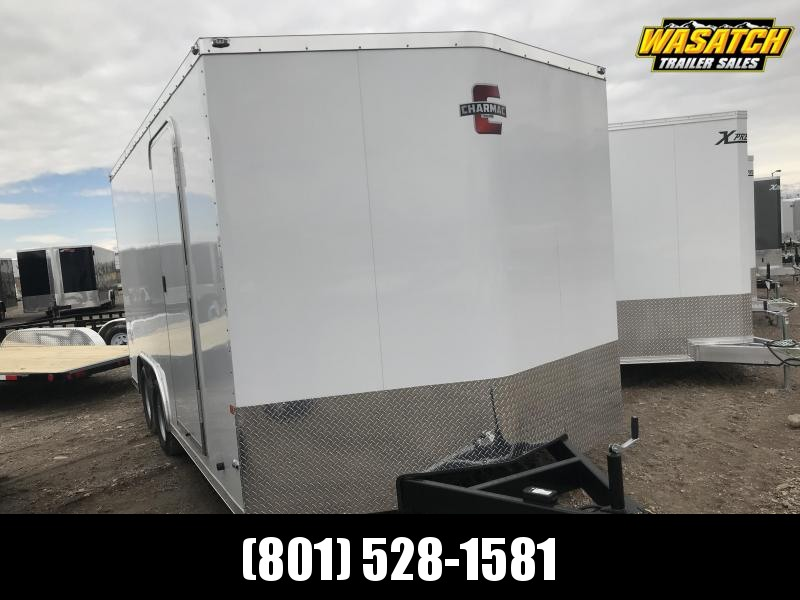 Charmac 100x16 Stealth Enclosed Steel Cargo w/ V-Nose