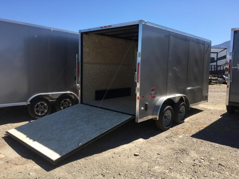 Charmac 7.5x14 Stealth Enclosed Steel Cargo w/ V-Nose