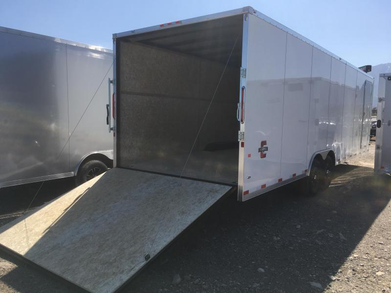 100x28 White Charmac Stealth Carhauler with Diamond Package