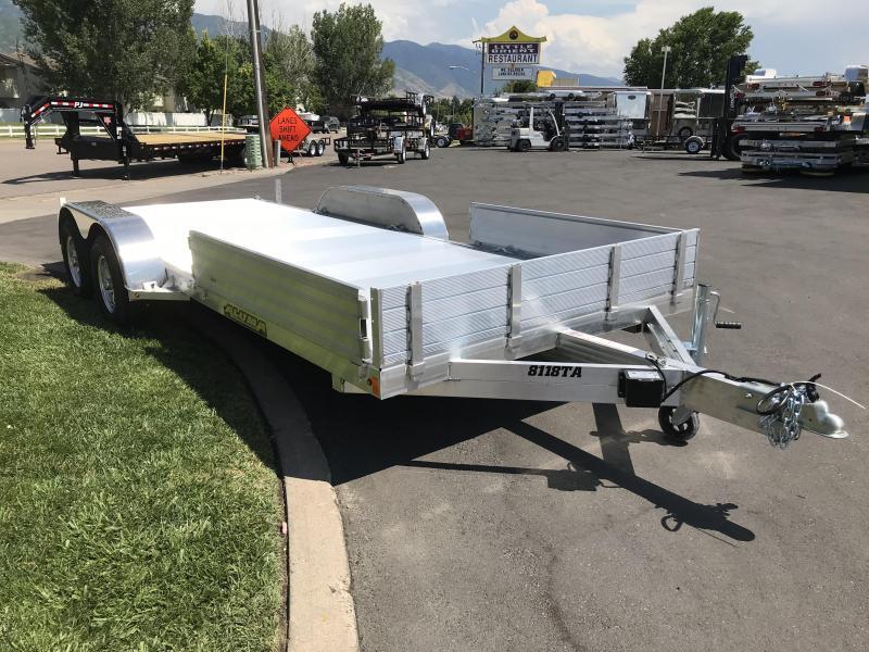 2019 Aluma 81x18 Tandem Axle (8118TA) Utility Trailer