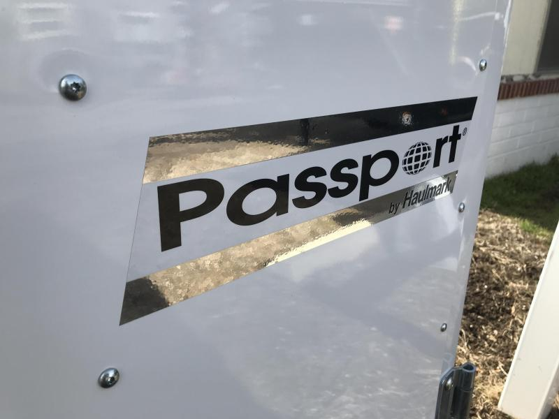 Haulmark White 6x12 Passport with Barn Doors Enclosed Cargo Trailer
