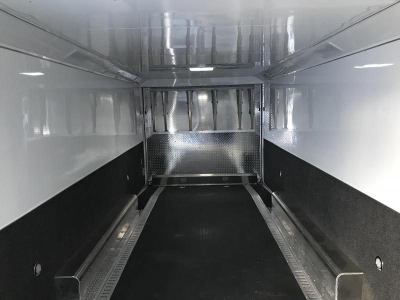 2019 Haulmark 8.5X28 White Aluminum Car / Racing Trailer