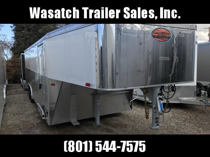 2018 Sundowner Trailers 24 White Gooseneck Enclosed Cargo Trailer in Ashburn, VA