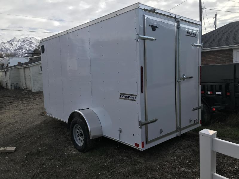 Haulmark 6x12 White Passport Cargo with Barn Doors
