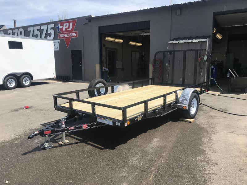 PJ 83x14 Single Axle Channel Utility Trailer (U8)