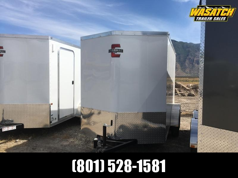 Charmac 6x12 Stealth Enclosed Steel Cargo w V-nose