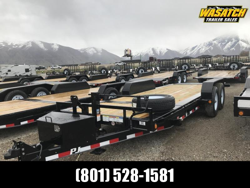 "PJ Trailers HD Equipment Tilt 6"" Channel (TJ) Equipment Trailer"