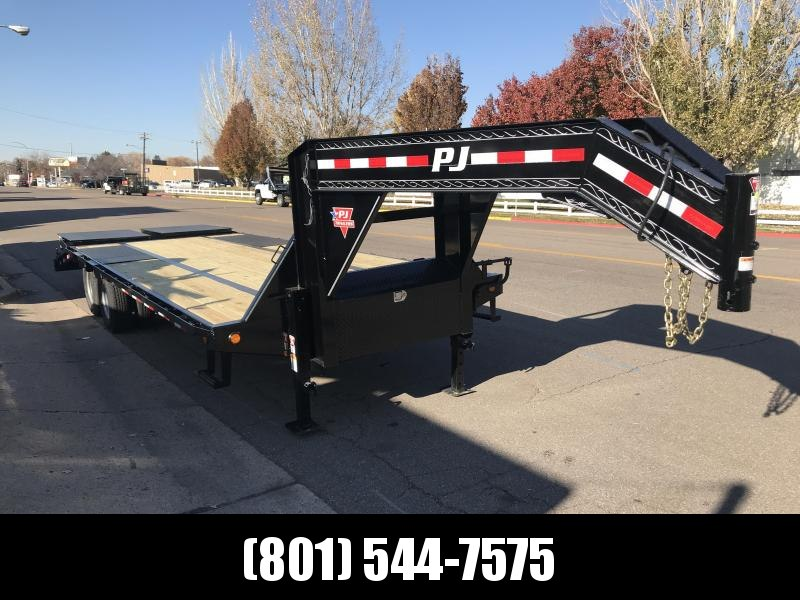 2019 PJ Trailers 30ft Gooseneck Low-Pro Flatdeck with Duals (LD) Flatbed Trailer in UT