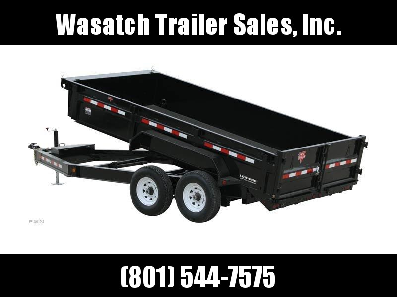 2019 PJ Trailers 12ft x 83 in. Low Pro Dump (DL) Dump Trailer