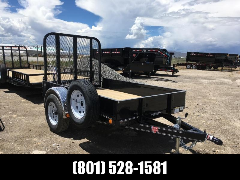 "5x8 PJ Trailers Utility Trailer with 12"" Solid Sides"