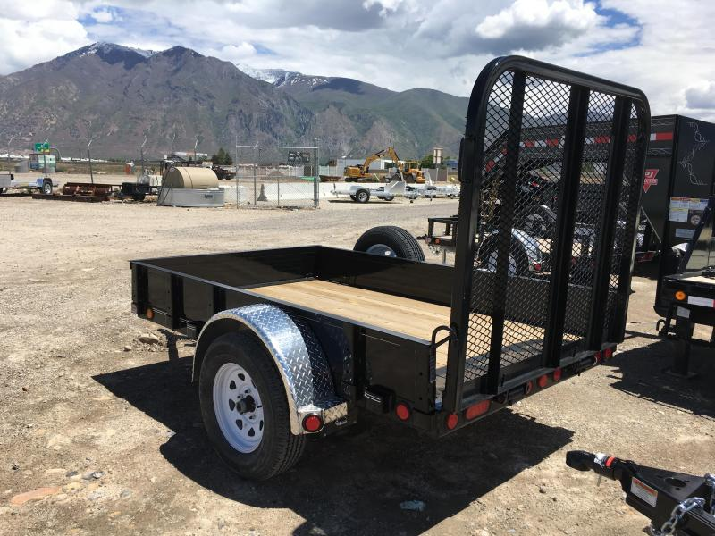 """5x8 PJ Trailers Utility Trailer with 12"""" Solid Sides"""