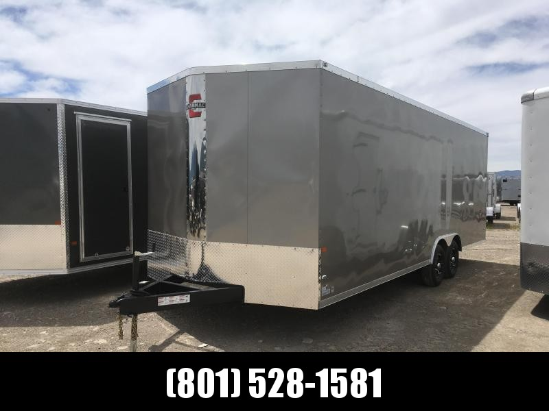 100x24 Pewter Charmac Stealth Cargo Trailer with Trisport Fenders