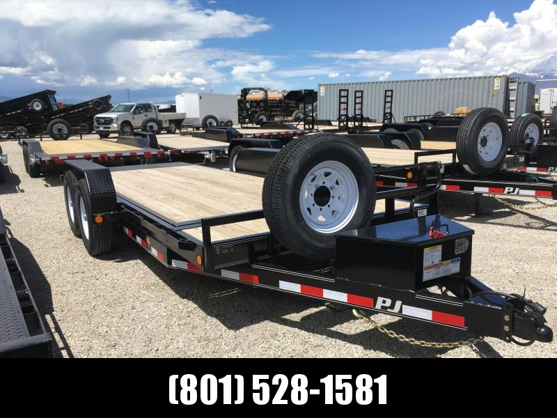PJ Trailers 18' Tilt Deck 6 in. Channel (T6) Equipment Trailer