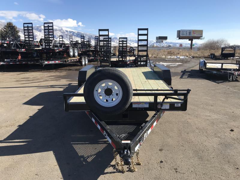 2018 PJ Trailers 16 Channel Super Wide Equipment Trailer