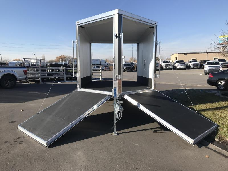 2019 Haulmark 8.5x12 Double Front Door Aluminum Snowmobile Trailer
