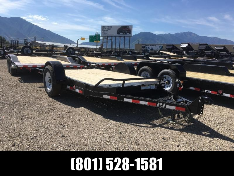 PJ Trailers 13ft. Single Axle HD Tilt (T1) Equipment Trailer