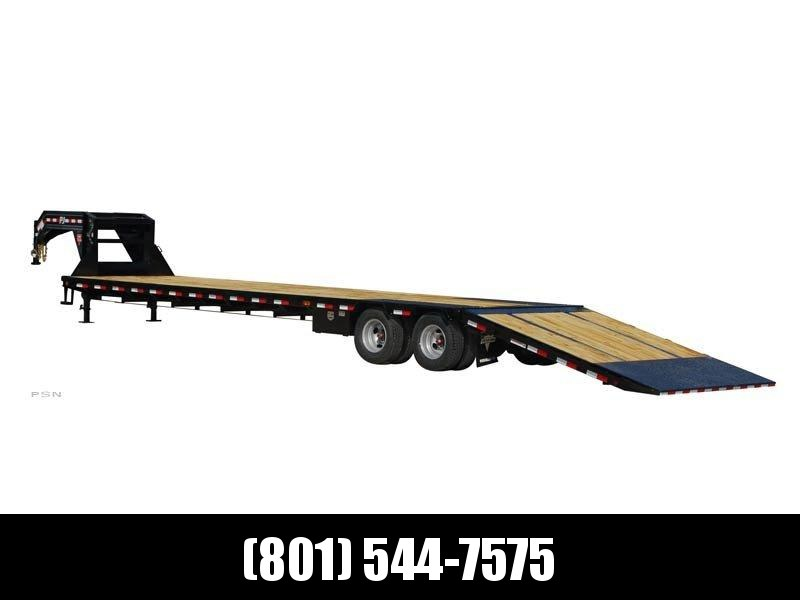2019 PJ Trailers 34ft - Gooseneck Low-Pro with Hydraulic Dove (LY) Flatbed Trailer