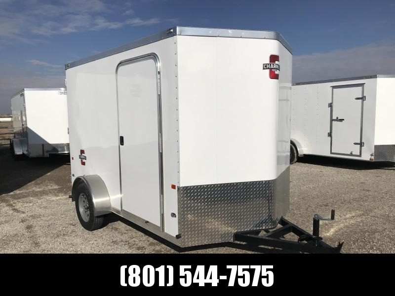 Charmac 6x10 White Stealth Cargo with Barn Doors