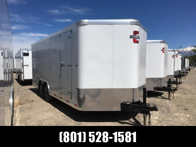 100x20 White Charmac Commercial Duty Cargo Trailer