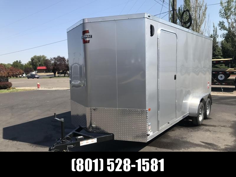 Charmac 7x16 Silver Stealth Cargo with Ramp Door