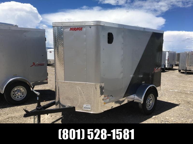 5x8 Silver & Charcoal Mirage Trailers Xpres Cargo Trailer