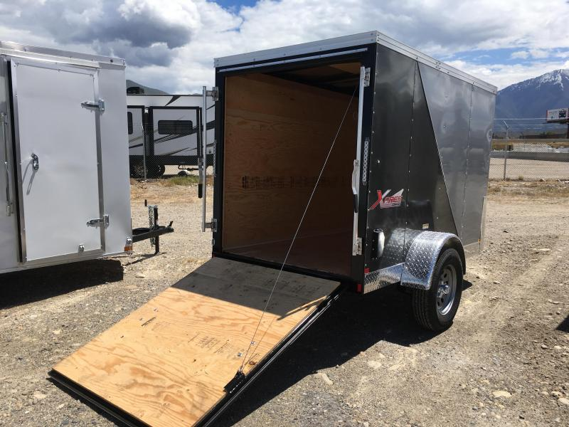5x8 Silver & Charcoal Mirage Trailers Xpres Cargo Trailer | Wasatch