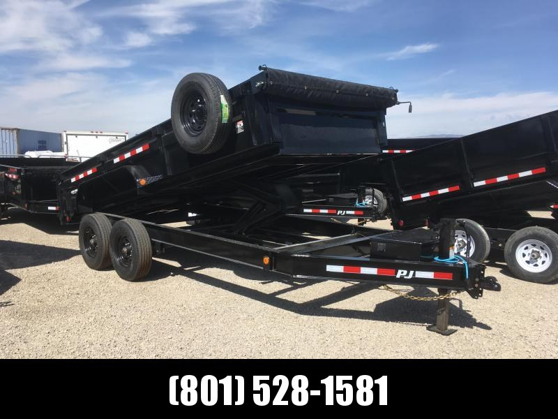 PJ Trailers 16ft. - 83 in. Low Pro Dump (DL) Trailer