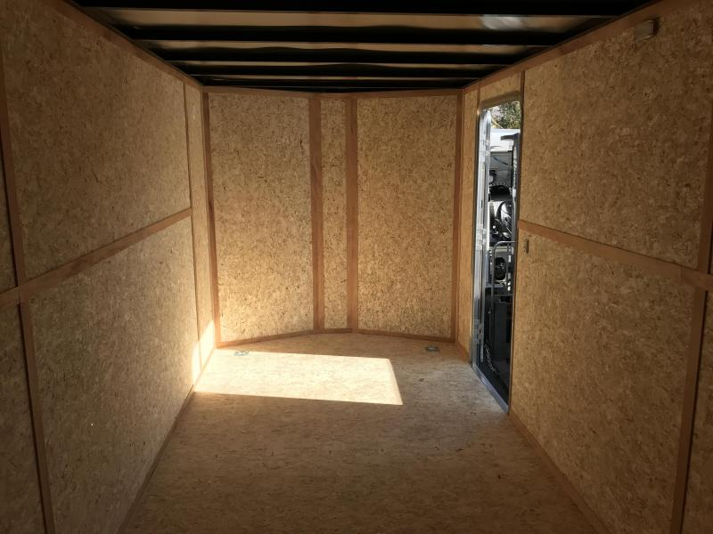 Charmac 7x18 White Stealth Cargo with Ramp