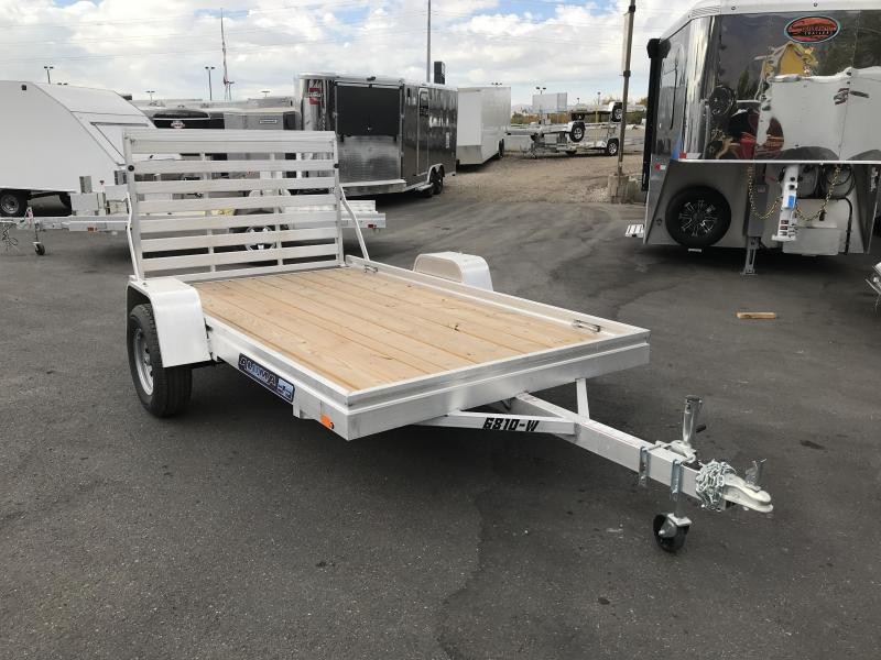 2018 Aluma 68x10 Wood Deck Aluminum Utility Trailer
