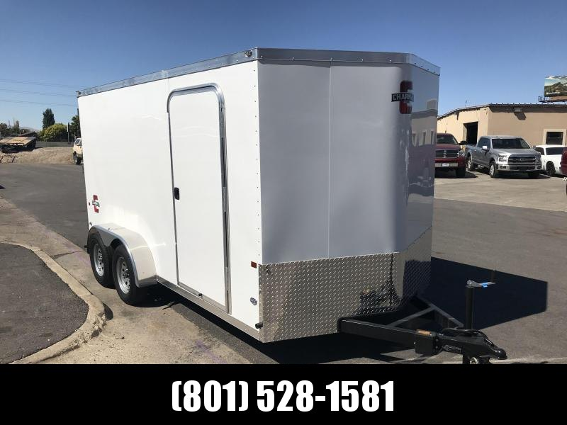 Charmac 7x14 White Stealth Cargo with Barn Doors