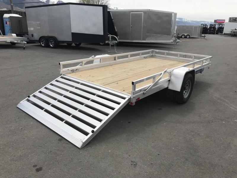 2018 Aluma 68in x 12ft Wood Deck Aluminum Utility Trailer