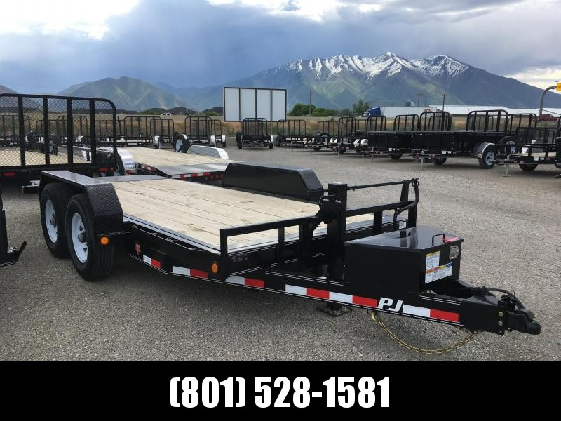 "16' PJ Trailers 6"" Channel Equipment Tilt"