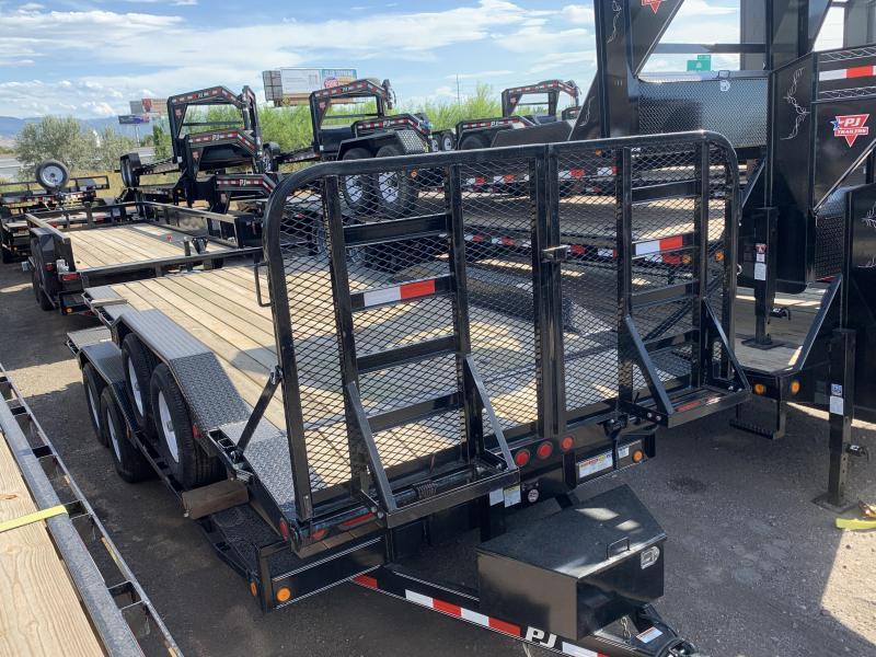 2018 PJ Trailers 18ft Channel Buggy Hauler Equipment Trailer